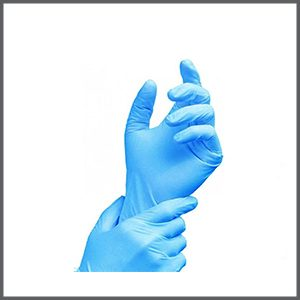 100x Latex Powder-free Gloves